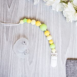 Silicone Pacifier Clip, Baby Shower Gift